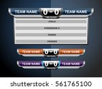 scoreboard sport template for... | Shutterstock .eps vector #561765100