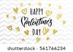 luxury gold valentine day text...   Shutterstock .eps vector #561766234