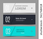 three horizontal business... | Shutterstock .eps vector #561768418