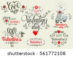 valentine's day postcard with... | Shutterstock .eps vector #561772108