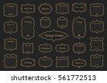 big vector set of vintage gold... | Shutterstock .eps vector #561772513