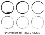 Stock vector vector set of coffee ring stains grunge style design 561773233