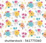 isolated floral bouquets... | Shutterstock .eps vector #561775360