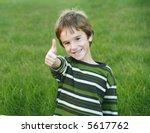boy giving a thumbs up | Shutterstock . vector #5617762