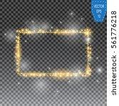 vector golden frame with lights ... | Shutterstock .eps vector #561776218