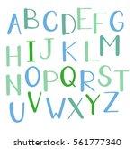 color hand drawn alphabet... | Shutterstock .eps vector #561777340