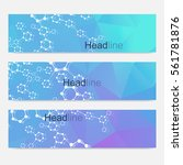scientific set of modern vector ... | Shutterstock .eps vector #561781876