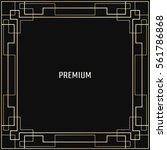 vector geometric frame in art...   Shutterstock .eps vector #561786868