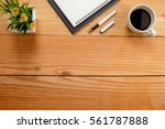 office desk table with keyboard ... | Shutterstock . vector #561787888