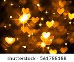 heart background boke photo ... | Shutterstock . vector #561788188