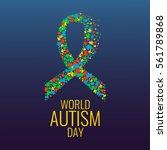 world autism day awareness... | Shutterstock .eps vector #561789868