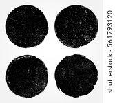 grunge post stamps.vector... | Shutterstock .eps vector #561793120