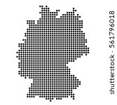 the map of germany. silhouette... | Shutterstock .eps vector #561796018
