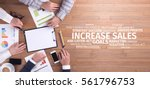 business concept  increase...   Shutterstock . vector #561796753