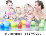 moms and children at infant... | Shutterstock . vector #561797230
