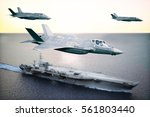 military jet strike force... | Shutterstock . vector #561803440