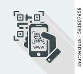 photographing qr code | Shutterstock .eps vector #561807658