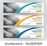 abstract banner design... | Shutterstock .eps vector #561809509