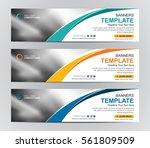 abstract banner design... | Shutterstock .eps vector #561809509