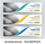 abstract banner design... | Shutterstock .eps vector #561809524