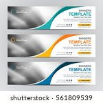 abstract banner design... | Shutterstock .eps vector #561809539