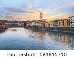 historical quarter of verona ... | Shutterstock . vector #561815710