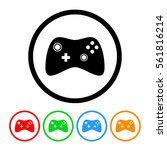 video game controller icon with ...   Shutterstock . vector #561816214