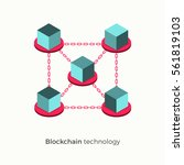blockchain technology concept.... | Shutterstock .eps vector #561819103