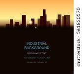 industrial landscape. vector...   Shutterstock .eps vector #561820570