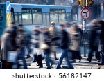 an image of people walking in... | Shutterstock . vector #56182147