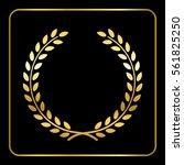 gold laurel or wheat wreath... | Shutterstock . vector #561825250