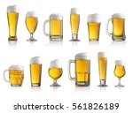 collection of different glasses ... | Shutterstock . vector #561826189