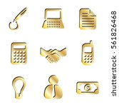 gold business communication and ...   Shutterstock . vector #561826468