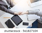 business people handshake in...   Shutterstock . vector #561827104