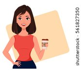 young cartoon businesswoman...   Shutterstock .eps vector #561827350