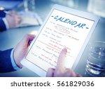 calendar agenda event meeting... | Shutterstock . vector #561829036
