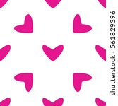 seamless pattern with pink... | Shutterstock .eps vector #561829396