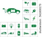 electric car icon  alternative... | Shutterstock .eps vector #561830173