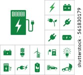 car charging station icon ... | Shutterstock .eps vector #561830179