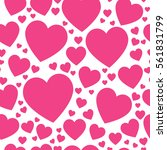 red hearts on a white...   Shutterstock .eps vector #561831799