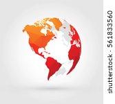 orange red globe north  central ...   Shutterstock .eps vector #561833560