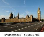 big ben with the houses of... | Shutterstock . vector #561833788