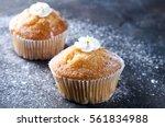 Homemade Vanilla Cupcakes On A...