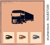 truck icon. lorry symbol | Shutterstock .eps vector #561837100