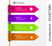 infographic template. banners... | Shutterstock .eps vector #561837880