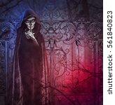 demon of darkness. photo... | Shutterstock . vector #561840823