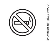no smoking icon illustration... | Shutterstock .eps vector #561849970
