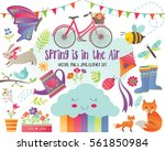 spring is in the air  ... | Shutterstock . vector #561850984