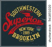 vintage varsity graphics and... | Shutterstock .eps vector #561851020