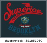 vintage varsity graphics and... | Shutterstock .eps vector #561851050